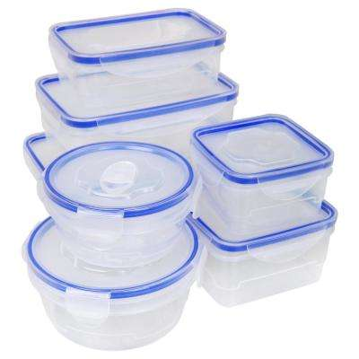 16-Piece Food Storage Container Set with Airtight Clip-Lock Lids