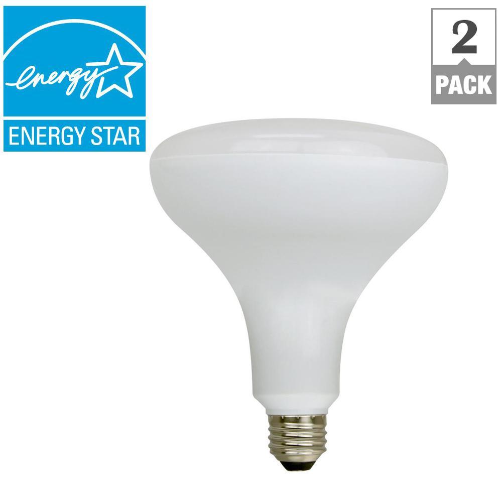 85W Equivalent Soft White LED BR40 Light Bulb (2-Pack)