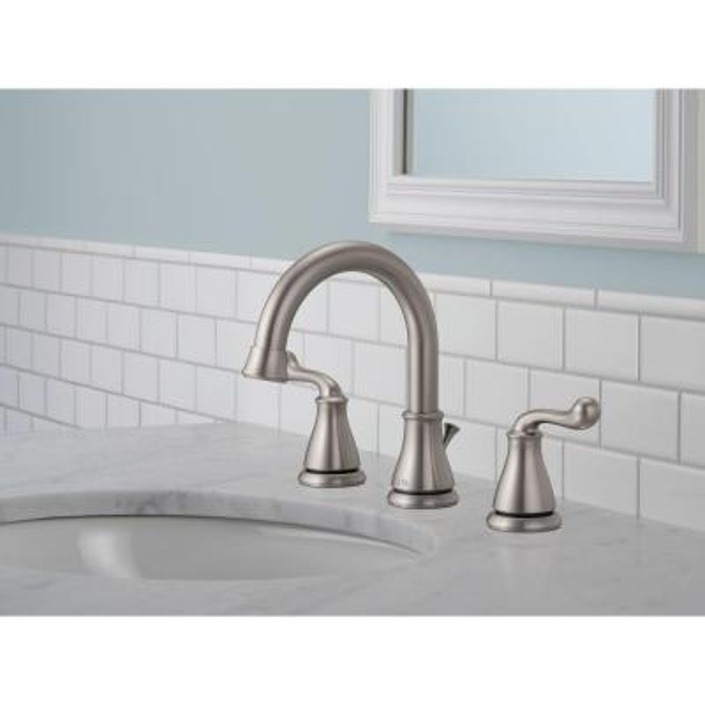 Southlake 8 in. Widespread 2-Handle Bathroom Faucet in Brushed Nickel