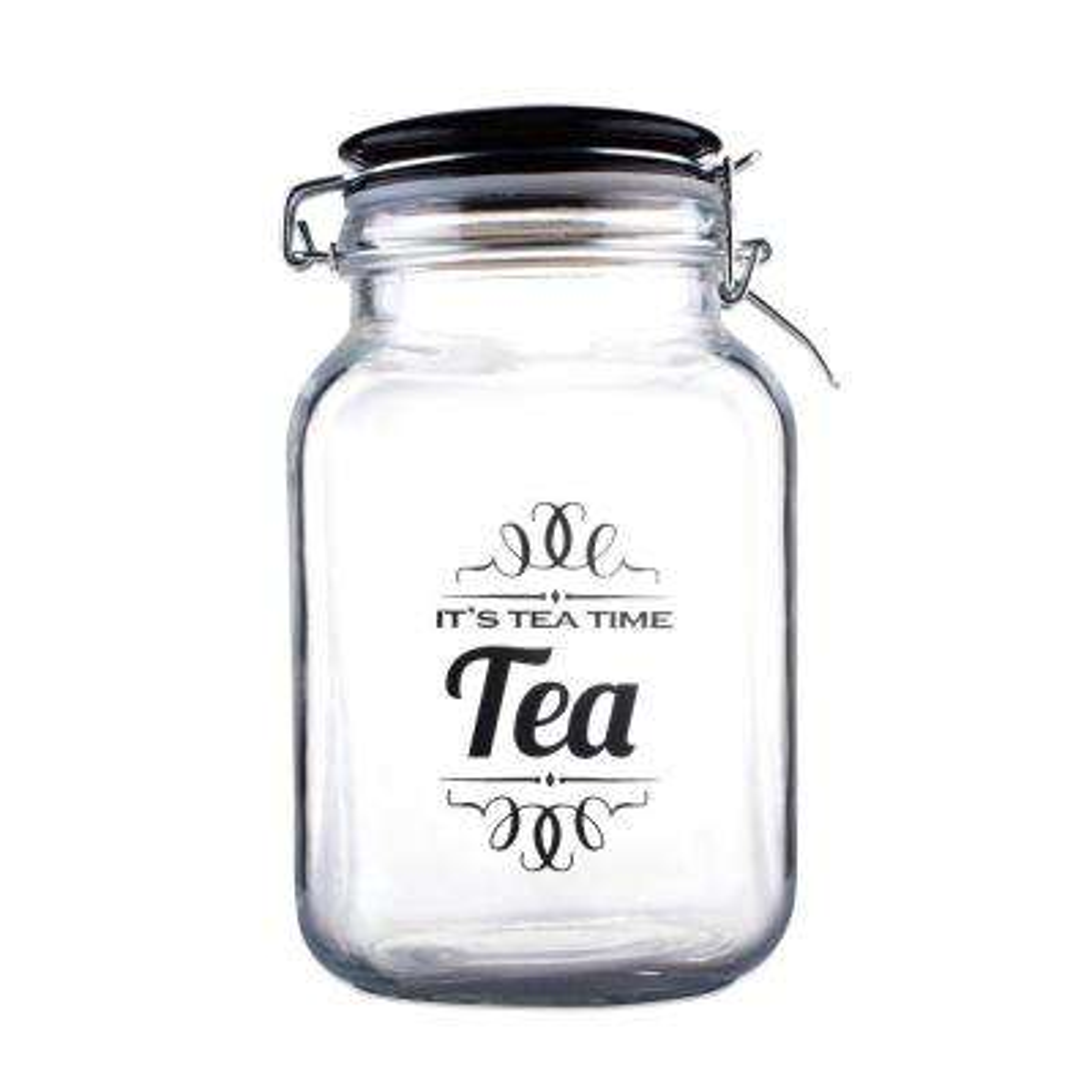 Glass Jar with Ceramic Top