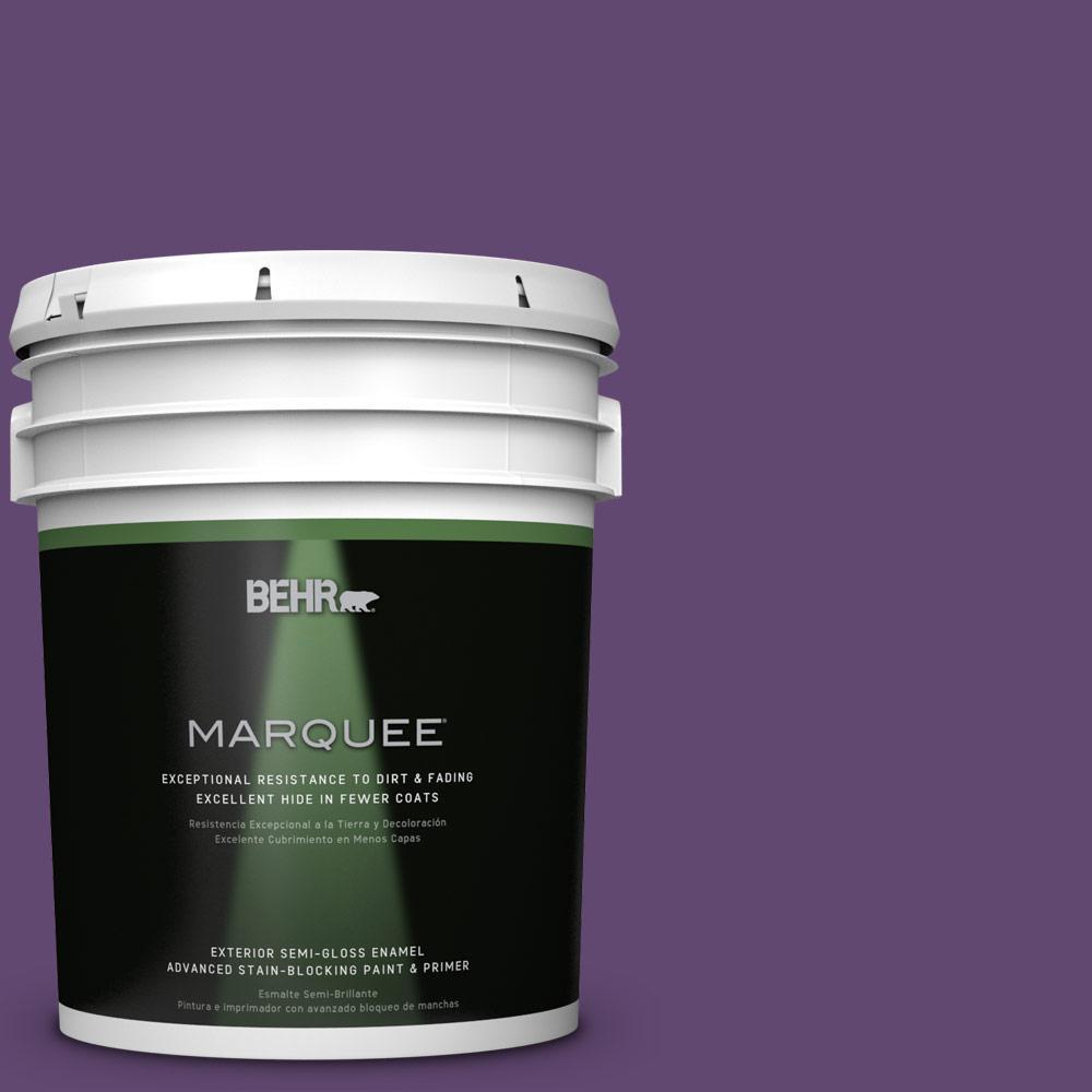 BEHR MARQUEE 5-gal. #S-G-670 Deep Violet Semi-Gloss Enamel Exterior Paint