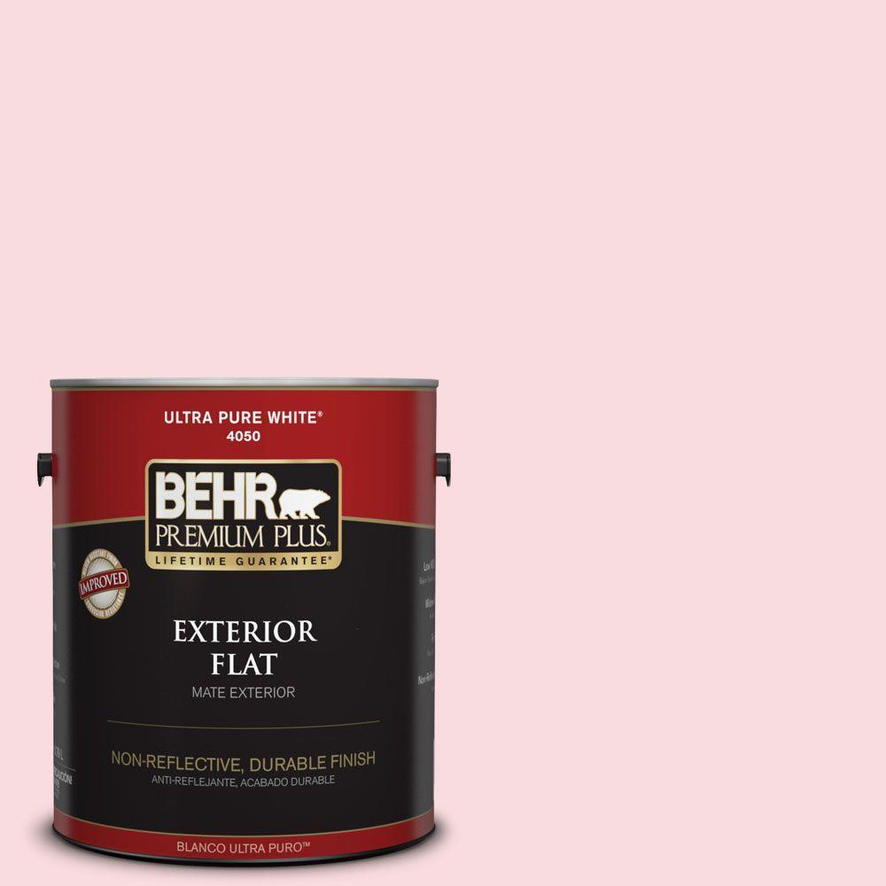 BEHR Premium Plus 1-gal. #140C-1 Southern Beauty Flat Exterior Paint
