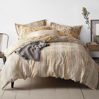 Ashby Linen Floral/Stripe Reversible Duvet Cover