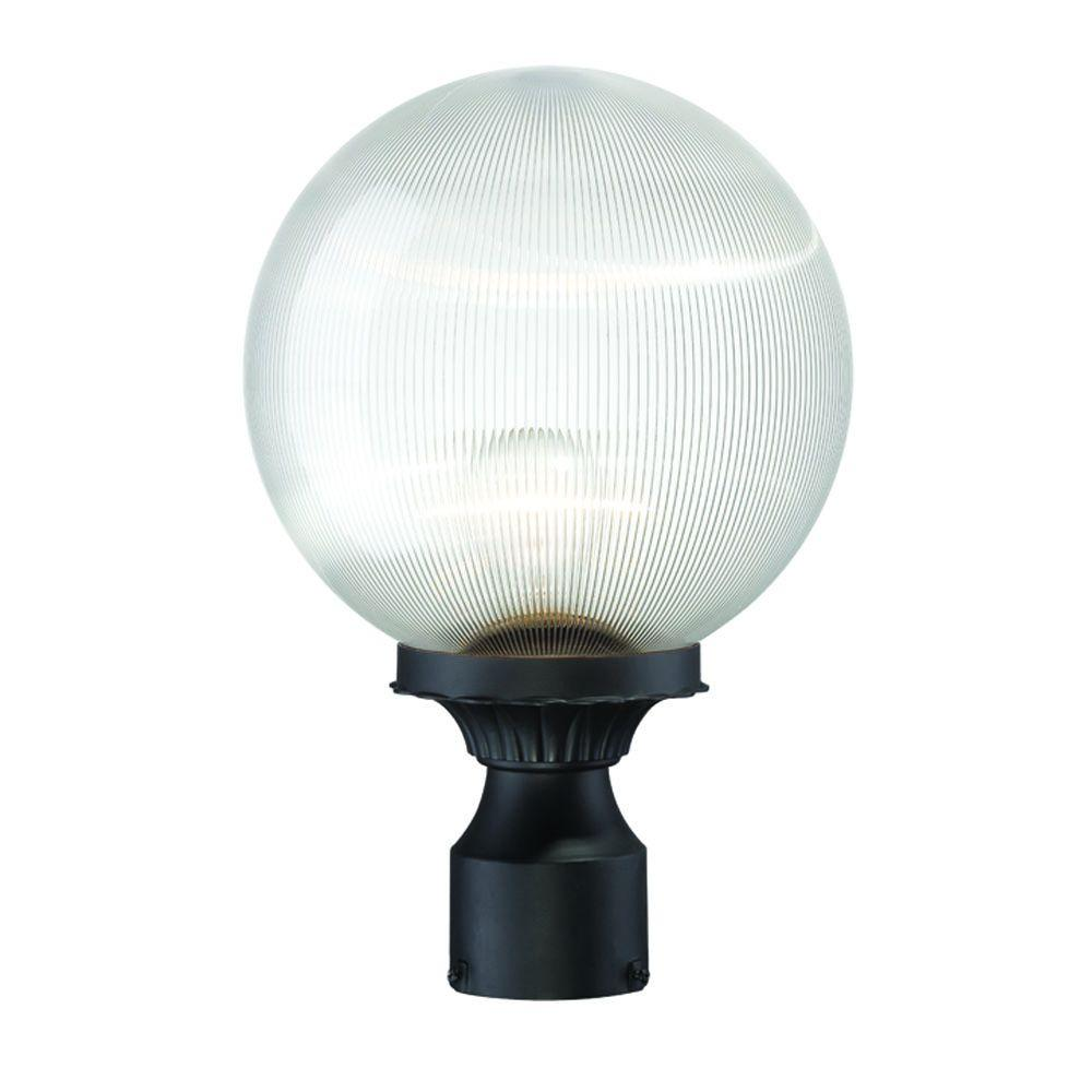 Havana 1-Light Matte Black Outdoor Post-Mount Fixture