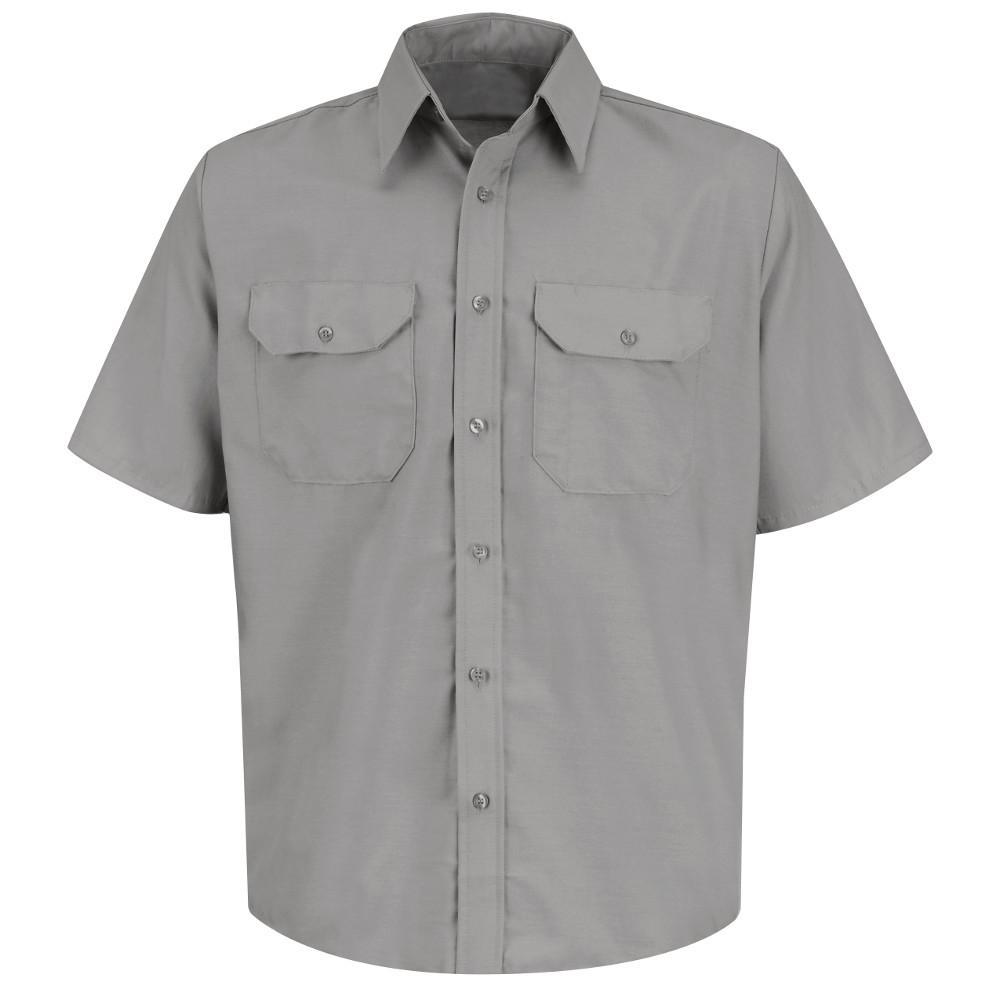 9d06554f137c Red Kap Men's Size 3XL Light Grey Solid Dress Uniform Shirt-SP60LA ...