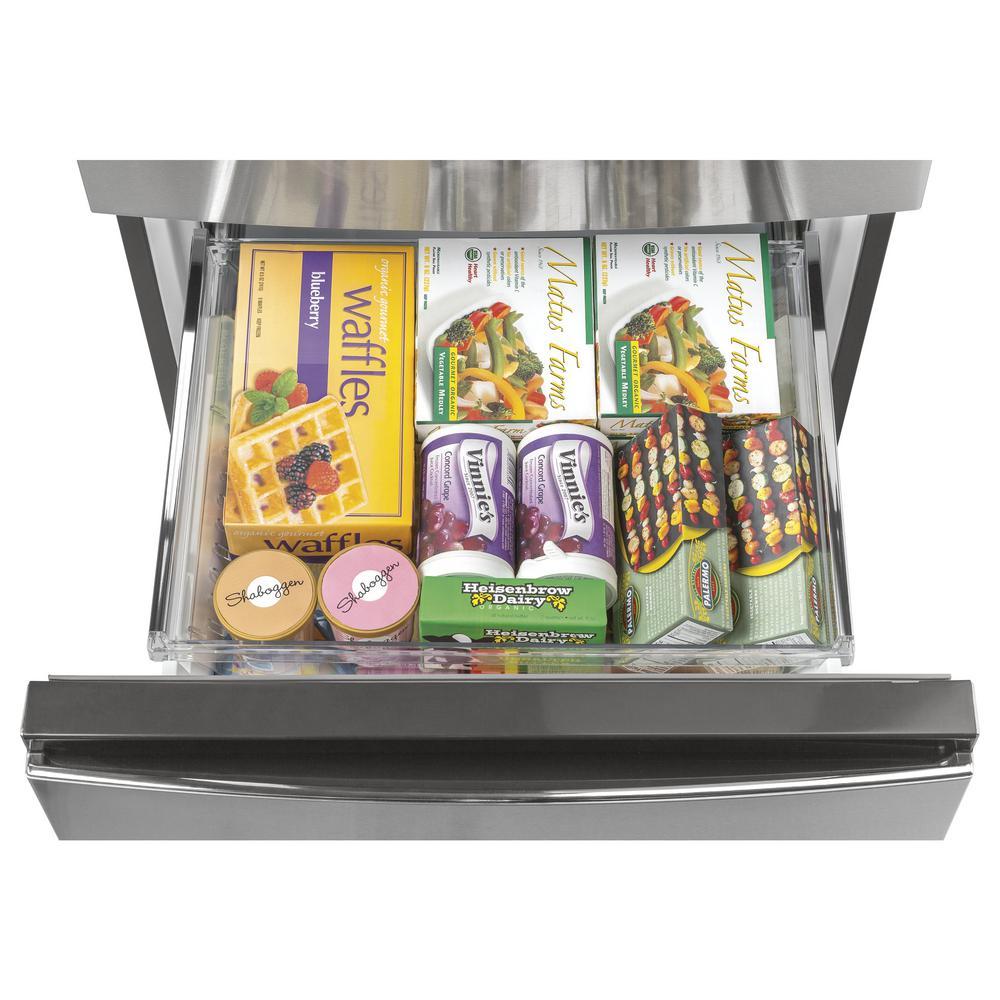 Ge 11 9 Cu Ft Bottom Freezer Refrigerator In Stainless Steel