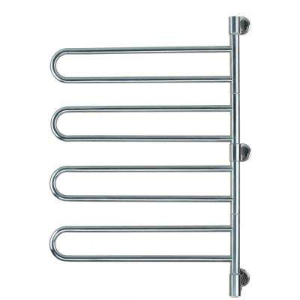 Swivel Jill Large 8-Bar Plug-in Electric Towel Warmer in Polished Stainless Steel