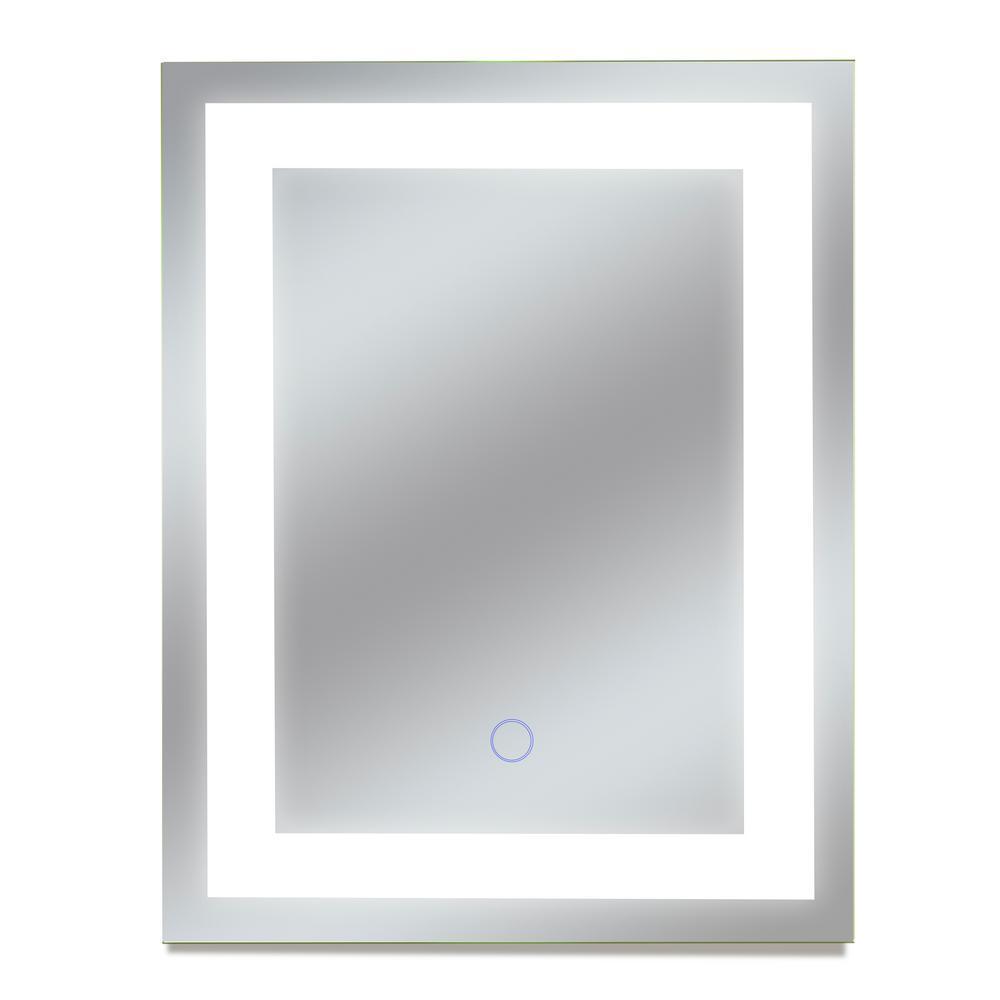 Edison 12 in. W x 16 in. H Frameless Rectangular LED Light Bathroom Vanity Mirror