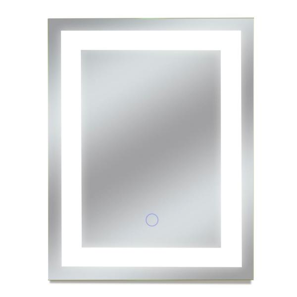 Dyconn Edison Tri Color 12 In X 16 In Single Led Wall Mounted Backlit Led Bathroom Mirror M13at1216t The Home Depot
