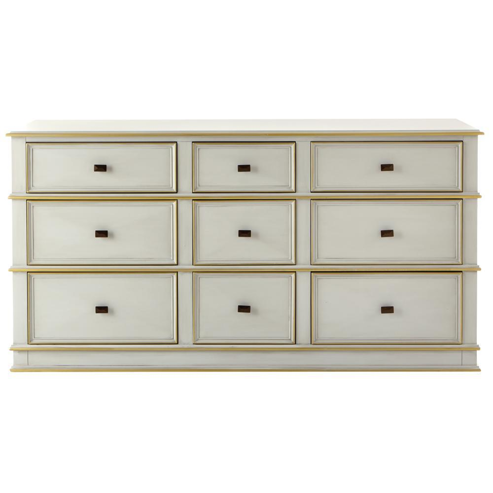 bedroom chest of drawers. Dinsmore 9 Drawer Antique Dove Grey Dresser Dressers  Chests Bedroom Furniture The Home Depot