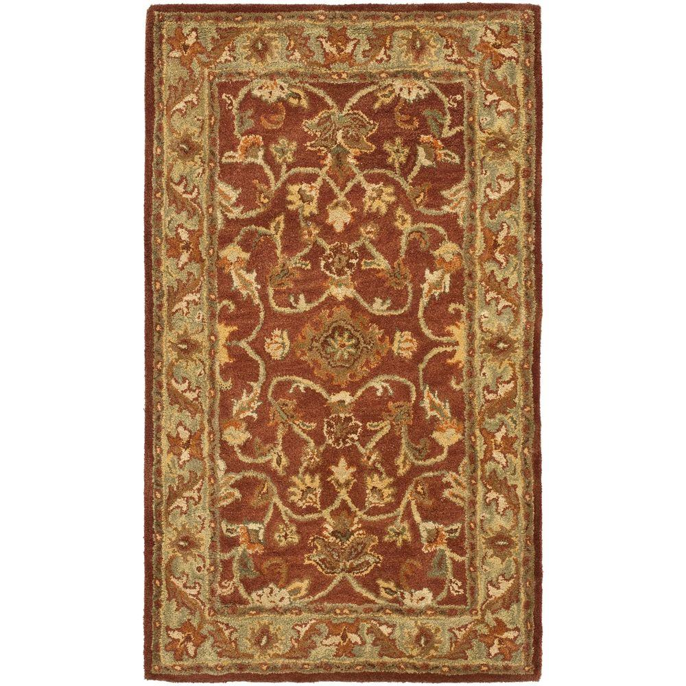 Golden Jaipur Rust/Green 3 ft. x 5 ft. Area Rug