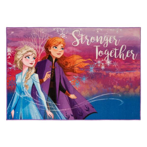 Frozen Multi-Color 5 ft. x 7 ft. Indoor Polyester Area Rug