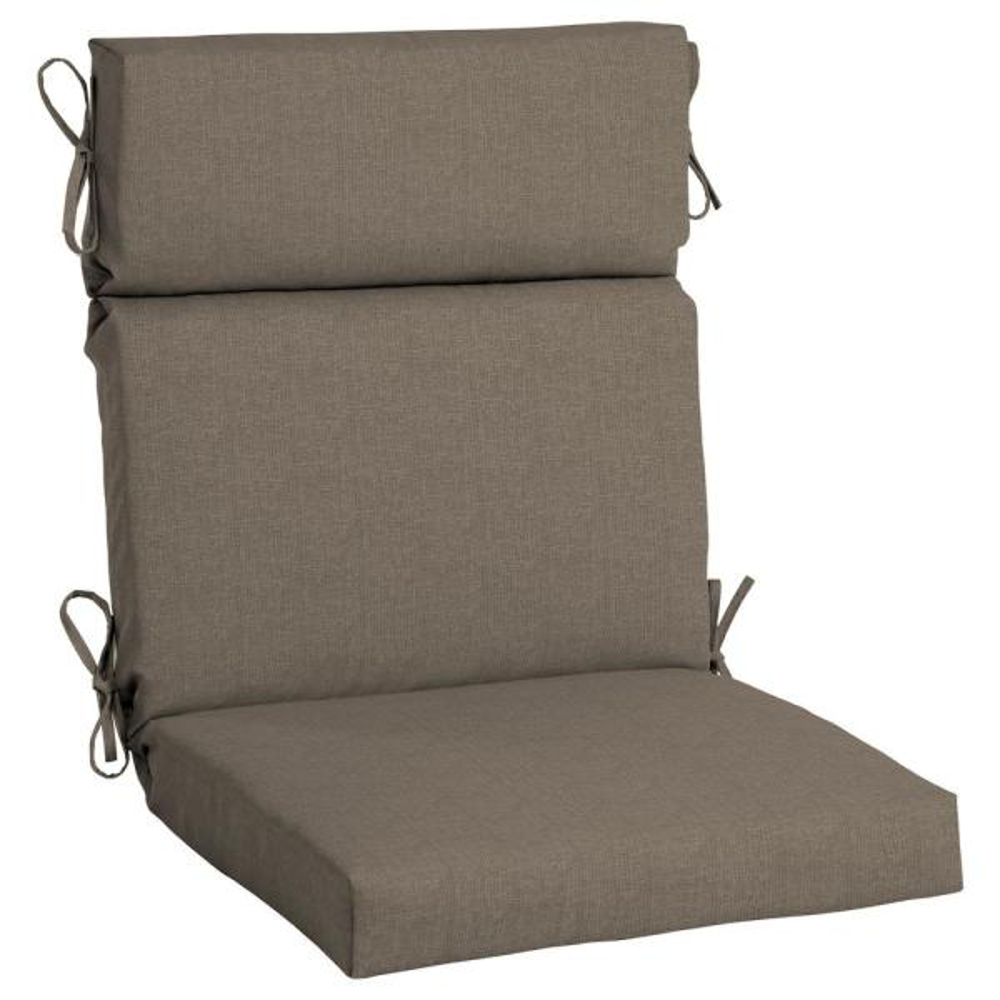 21.5 x 44 Sunbrella Cast Shale High Back Outdoor Dining Chair Cushion
