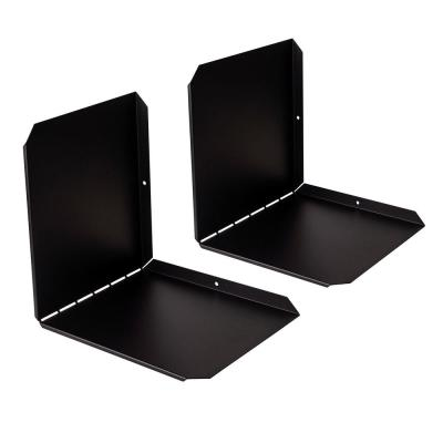 Flex V Black Media/Book Wall Shelf (2-Pack)