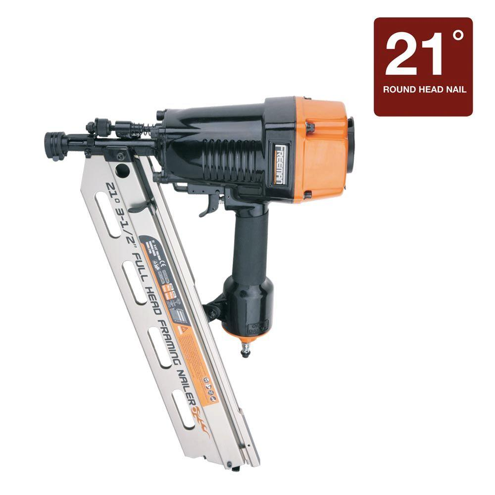Pneumatic 3-1/2 in. 21 Degree Full-Head Strip Framing Nailer