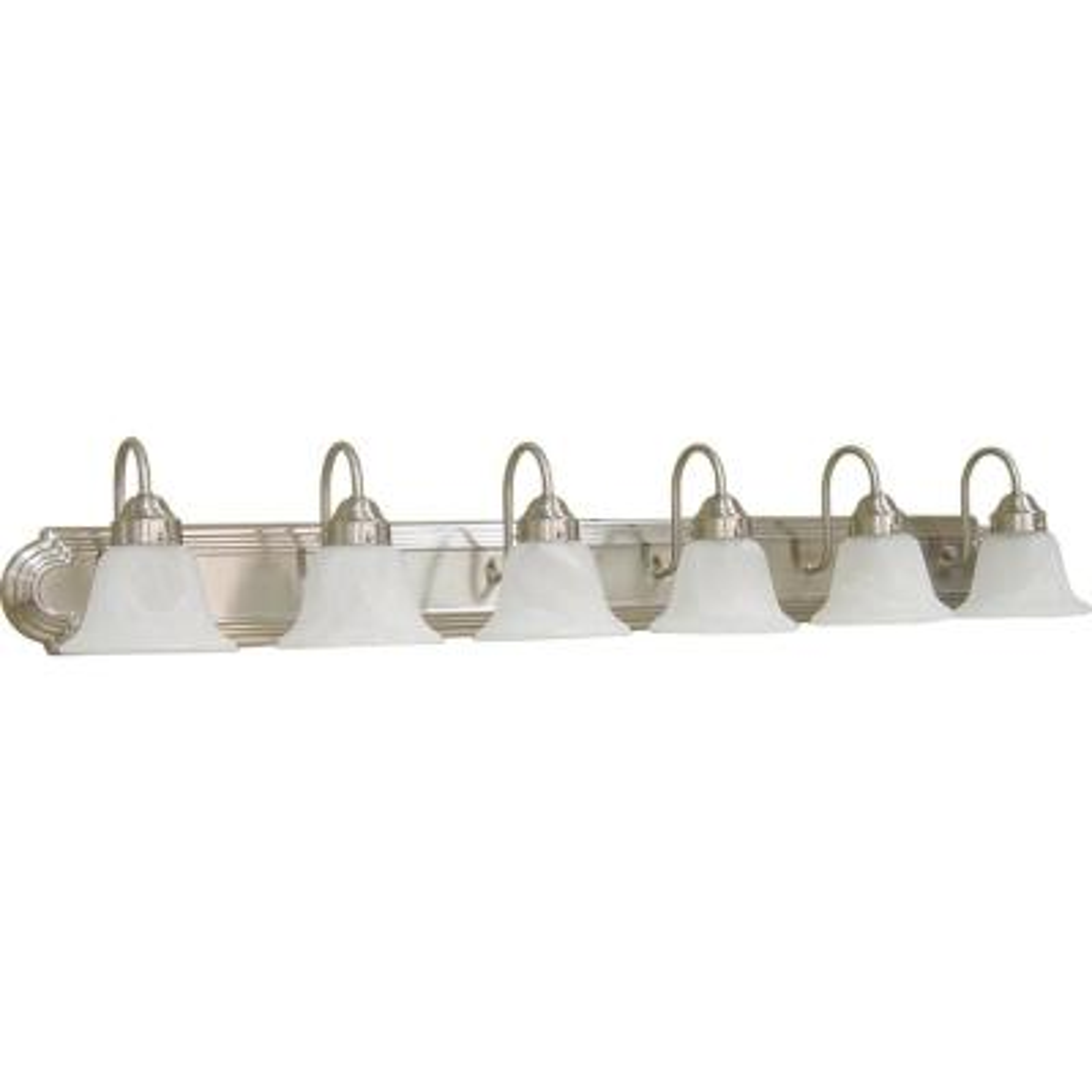 6-Light Brushed Nickel Bath Light