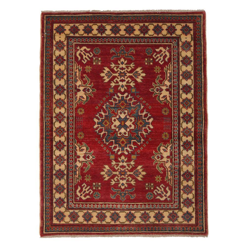 Darya Rugs Kazak Red 3 ft. 6 in. x 4 ft. 10 in. Indoor Area Rug
