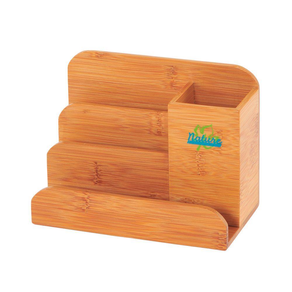 organizer desk bamboo storables