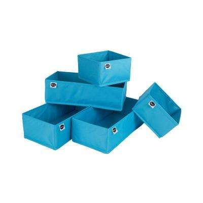 7 in. x 5 in. Storit Blue Drawer Organizers
