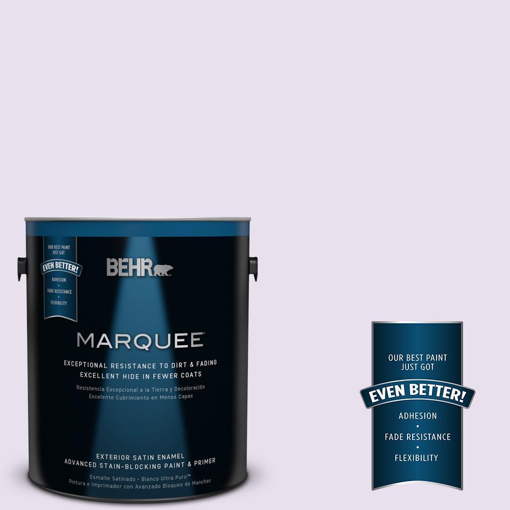 BEHR MARQUEE 1-gal. #660C-1 Bubble Bath Satin Enamel Exterior Paint