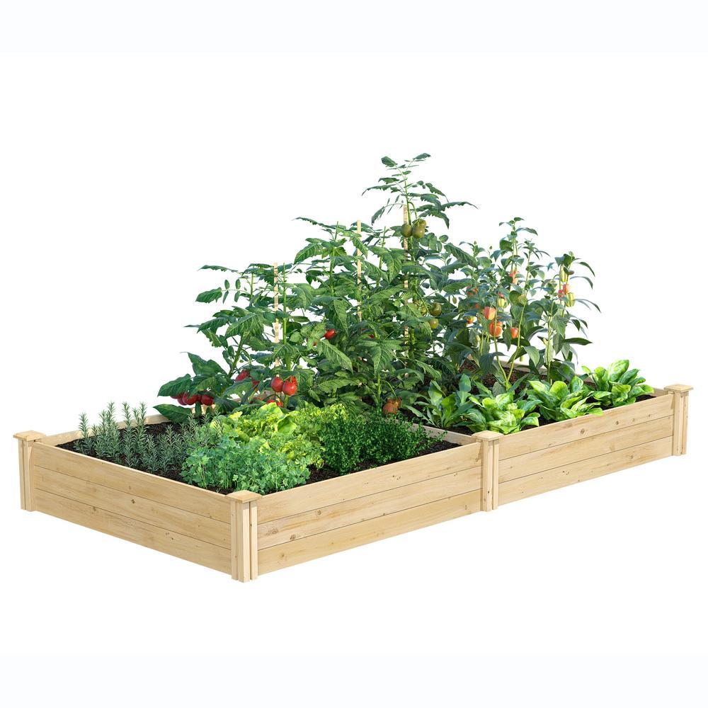 Greenes Fence 4 ft. x 8 ft. x 10.5 in. Original Cedar Raised Garden Bed
