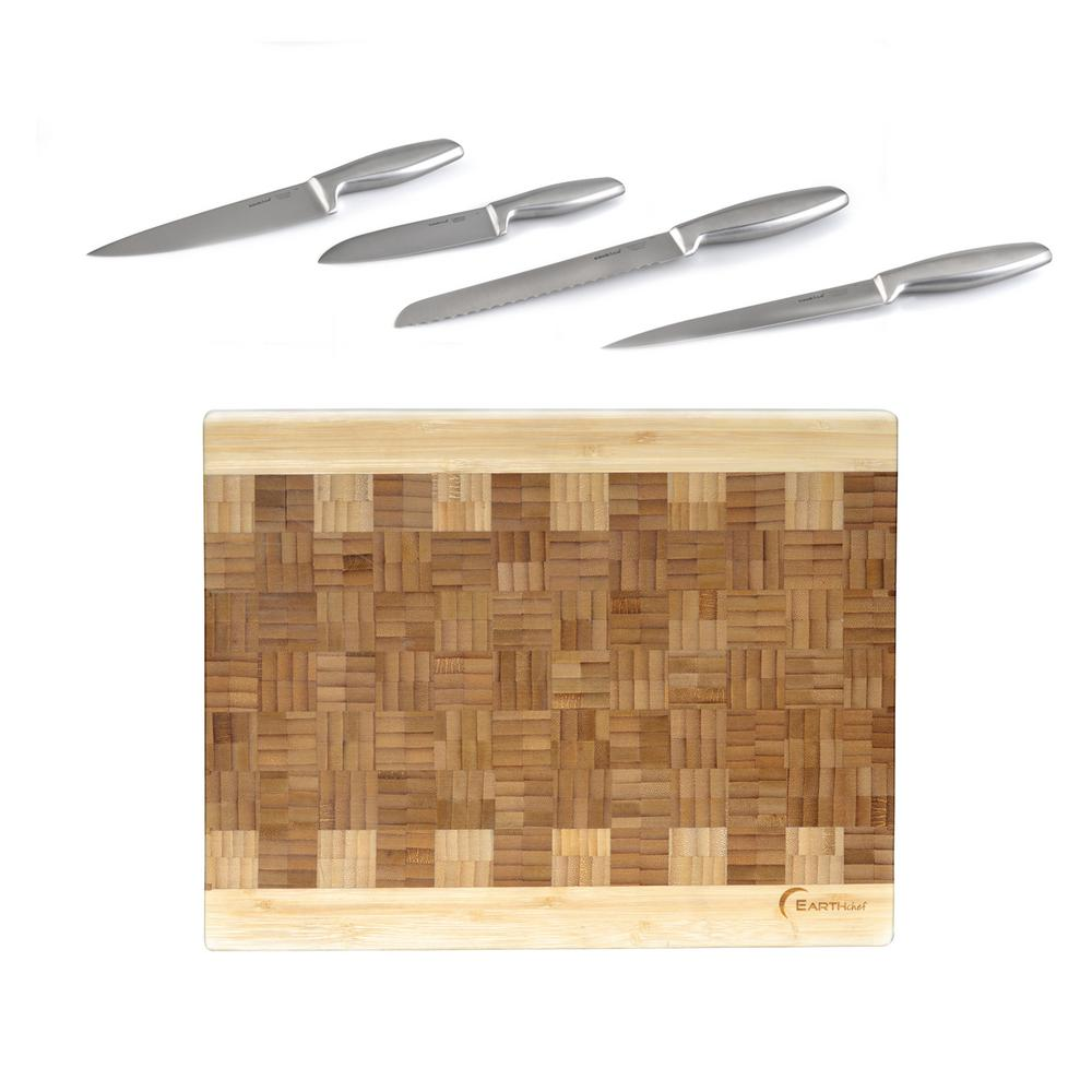 Cutlery Chop 6-Piece Knife Set with Cutting Board