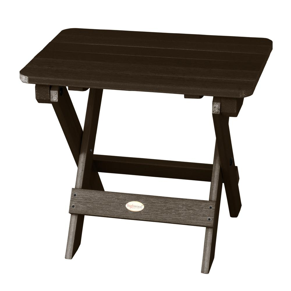 Highwood Adirondack Weathered Acorn Rectangular Recycled