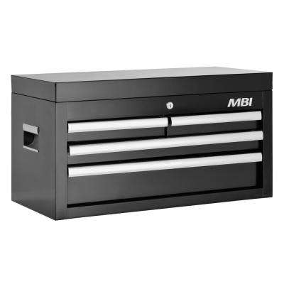 26 in. 4-Drawer Top Chest in Black