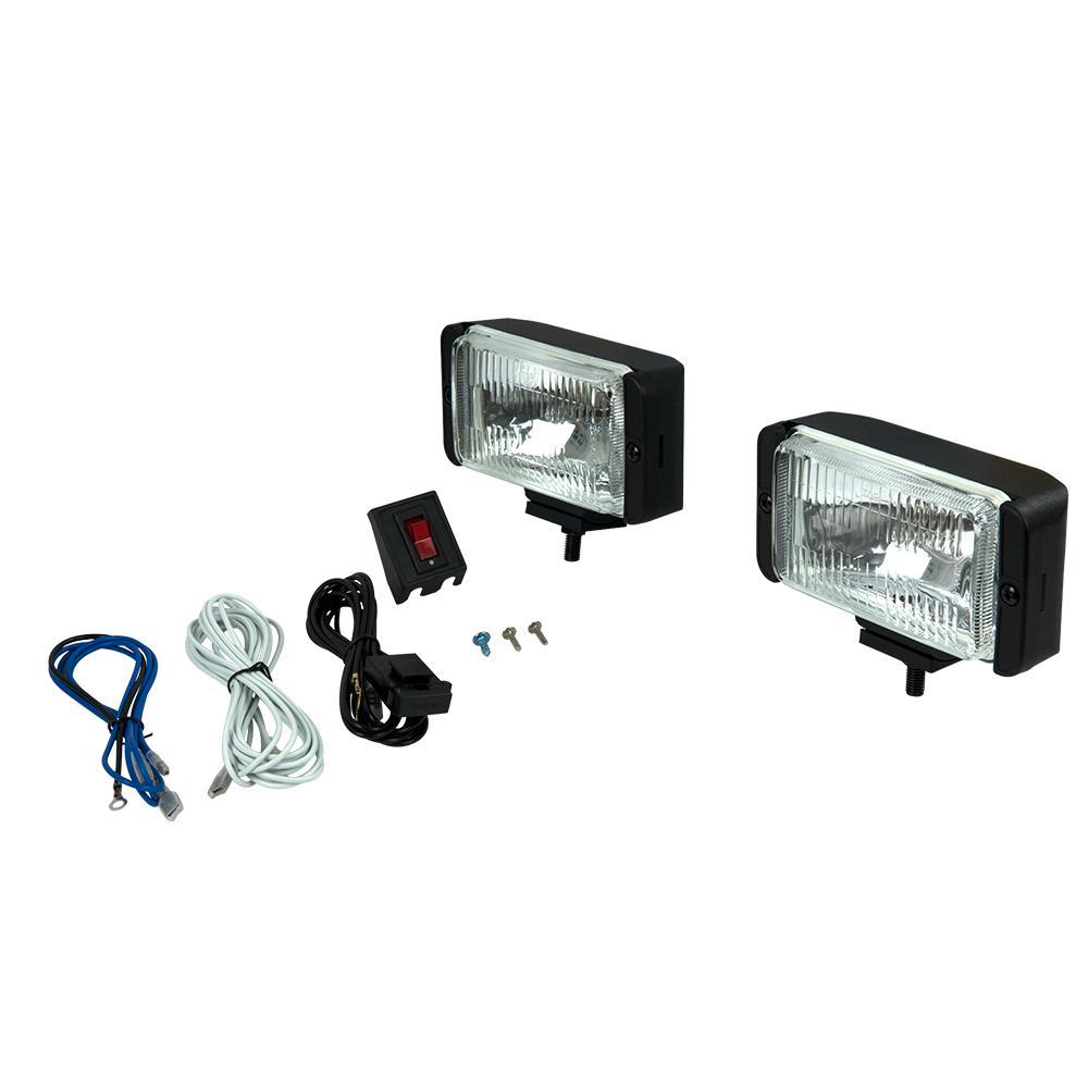 Rectangular Halogen Driving Light Kit