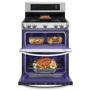 store so sku 16 lg electronics 69 cu ft double oven gas range with probake convection oven in