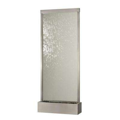 10 ft.Grande Stainless Steel and Clear Glass Waterfall Fountain
