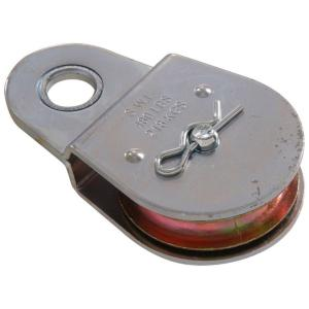 National Hardware 2 1 2 In Zinc Plated Swivel Hook Single Pulley