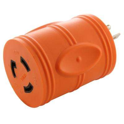 Locking Adapter 5-20P 20 Amp Househole Male Plug to Locking L5-20R Female Connectors Adapter