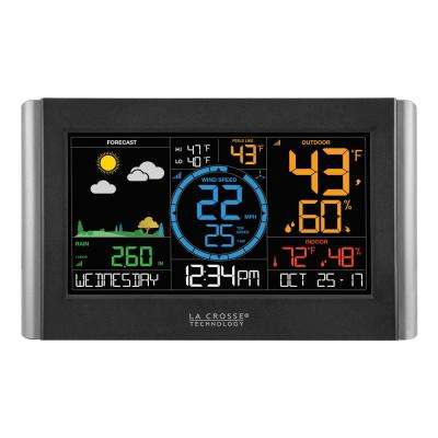 Digital Color WI-FI Professional Weather Station with Wireless Wind and Rain Sensors, Plus Bonus Display
