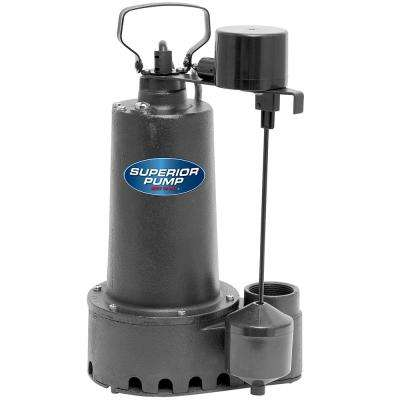 1/3 HP Submersible Cast Iron Sump Pump with Vertical Float Switch