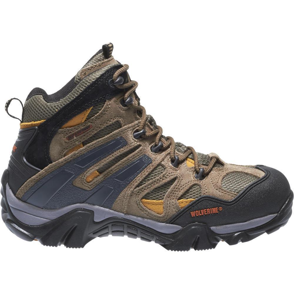 2e05beaa2e9 Wolverine Men's Wilderness 8.5M Tan Waterproof Suede Mesh Work Boot