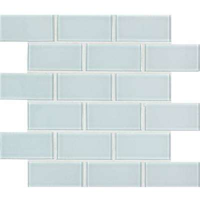 Ice Subway 11.81 in. x 11.81 in. x 8mm Glass Mesh-Mounted Mosaic Tile (9.70 sq. ft. / case)