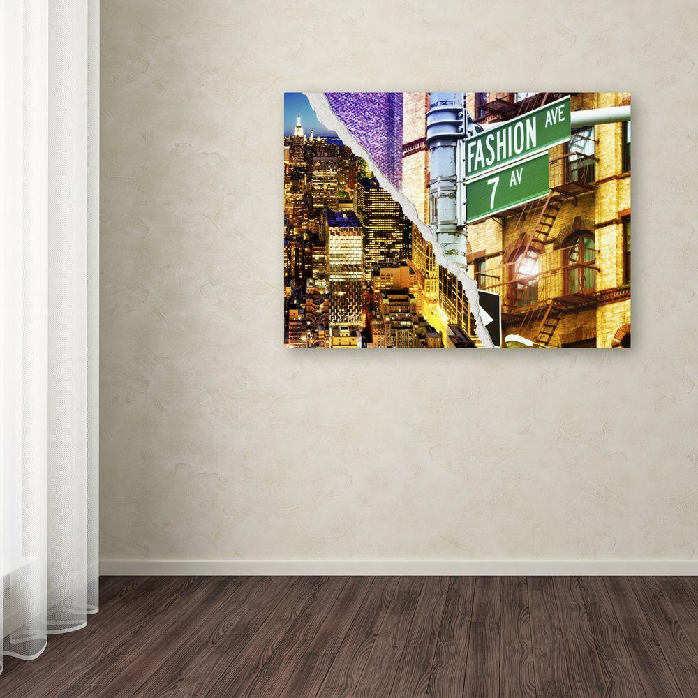 "35 in. x 47 in. ""Fashion Avenue"" by Philippe Hugonnard Printed"