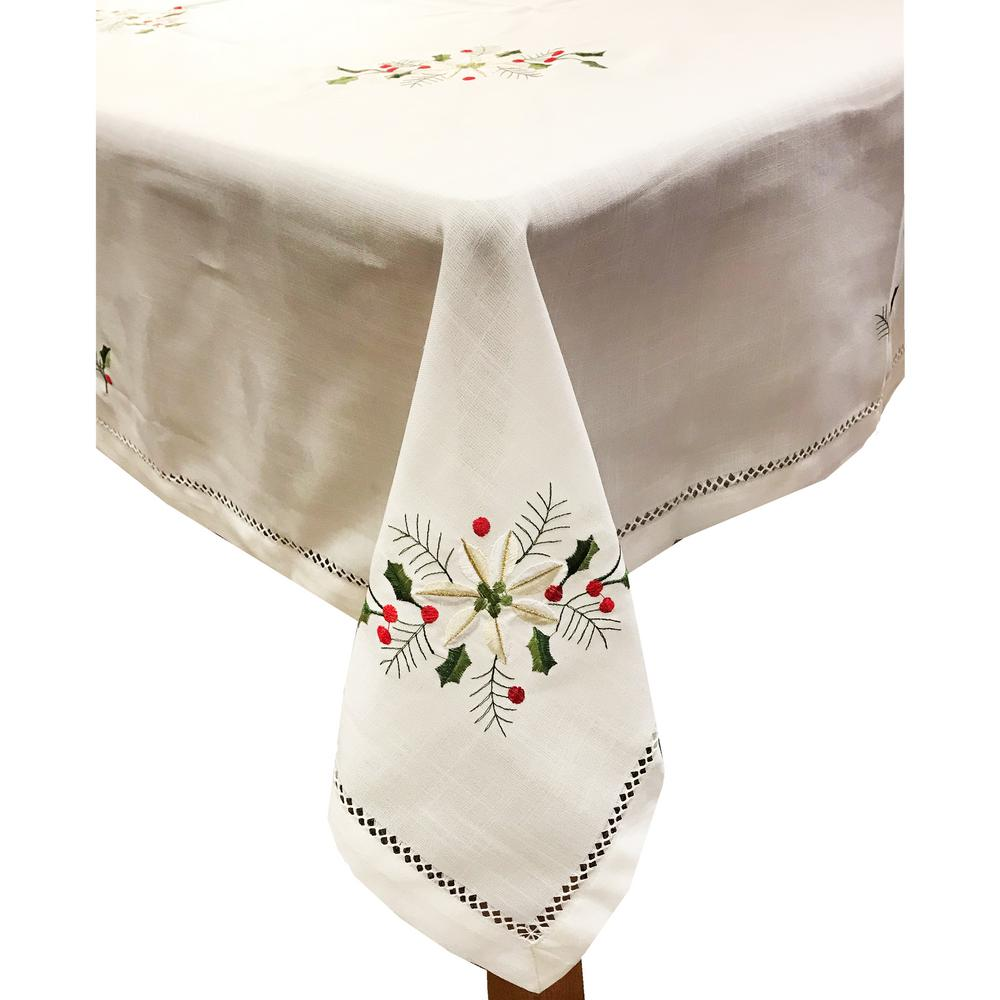 Lintex Holly Bouquet 60 in. x 120 in. Ivory 100% Polyeste...