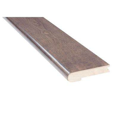 Mistral Nickel Birch 3/4 in. Thick x 4 in. Wide x 78 in. Length Solid Hardwood Flush Mount Stair Nose Molding