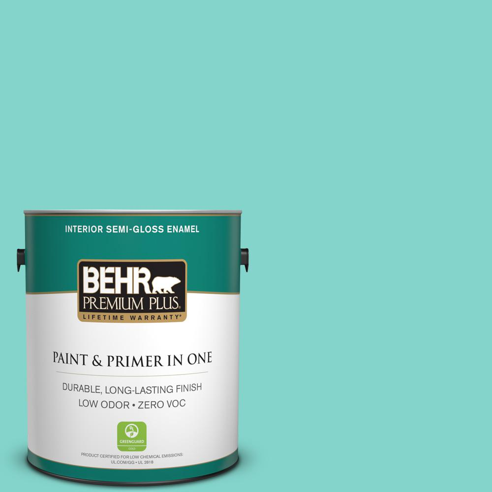 BEHR Premium Plus 1-gal. Home Decorators Collection Island Oasis Semi-Gloss Enamel Interior Paint