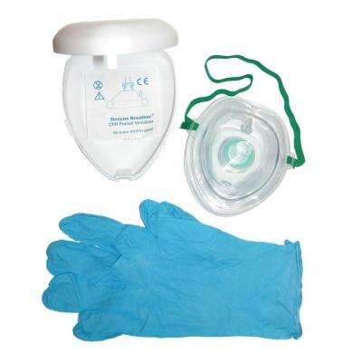 Adult CPR Breather Mask Set in White