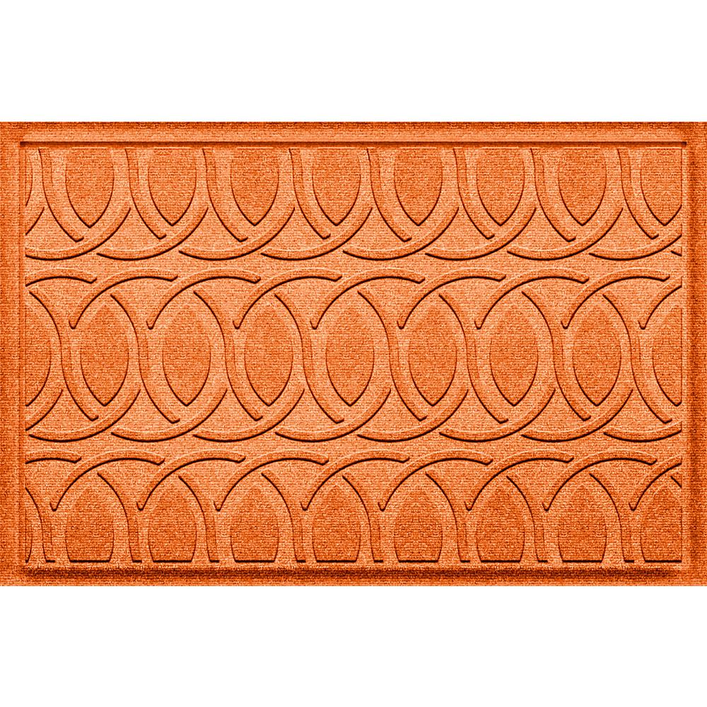 Aldine Orange 23 in. x 36 in. Polypropylene Door Mat