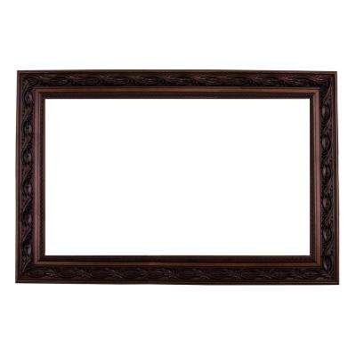 Le Flore 60 in. x 36 in. Mirror Frame Kit in Bronze Brown - Mirror not Included
