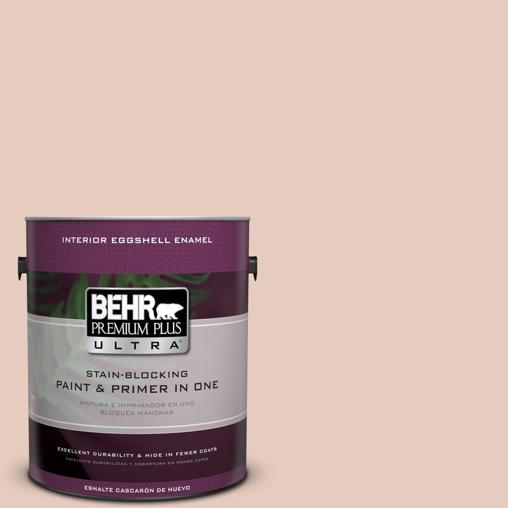BEHR Premium Plus Ultra 1 gal. #T17-05 Life is a Peach Eggshell Enamel Interior Paint and Primer in One