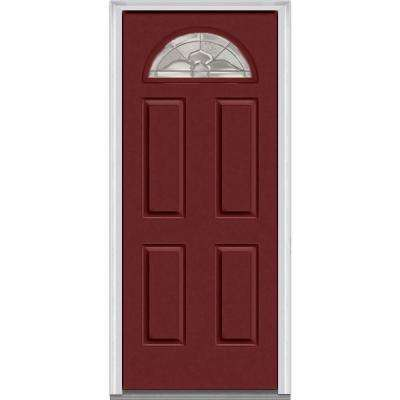 36 x 80 doors with glass steel doors the home depot master nouveau decorative glass 14 lite 4 panel painted majestic steel prehung front planetlyrics Image collections