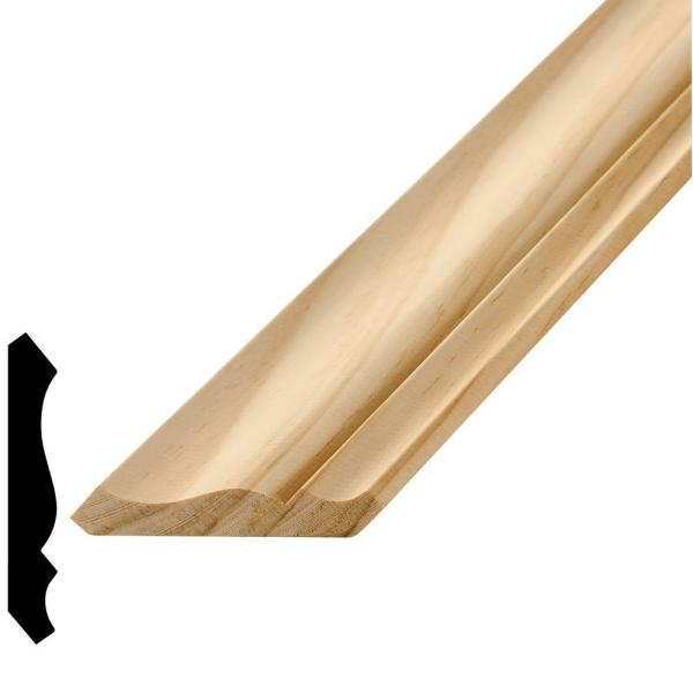 WM 49 9/16 in. x 3-5/8 in. x 96 in. Wood Pine Crown Moulding