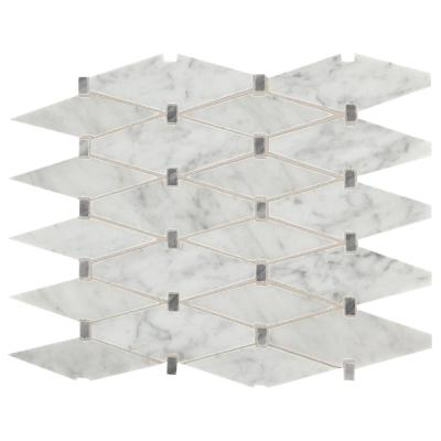 Daltile Premier Accents Eclipse Gray Diamond 11 In X 15 In X 8 Mm Stone Mosaic Floor And Wall Tile 0 94 Sq Ft Piece Pa82diamccms1l The Home Depot