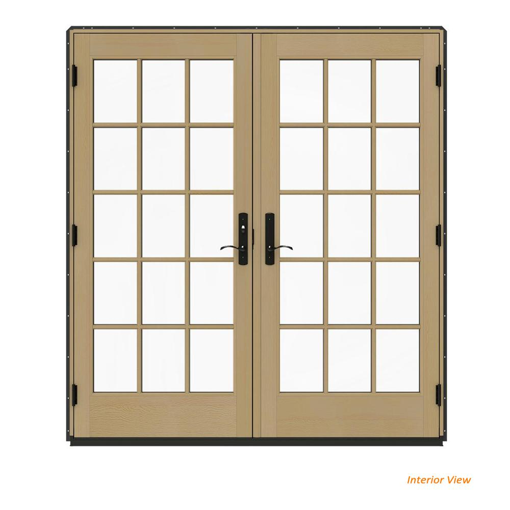Jeld Wen 72 In X 80 In W 4500 Contemporary Bronze Clad Wood Right
