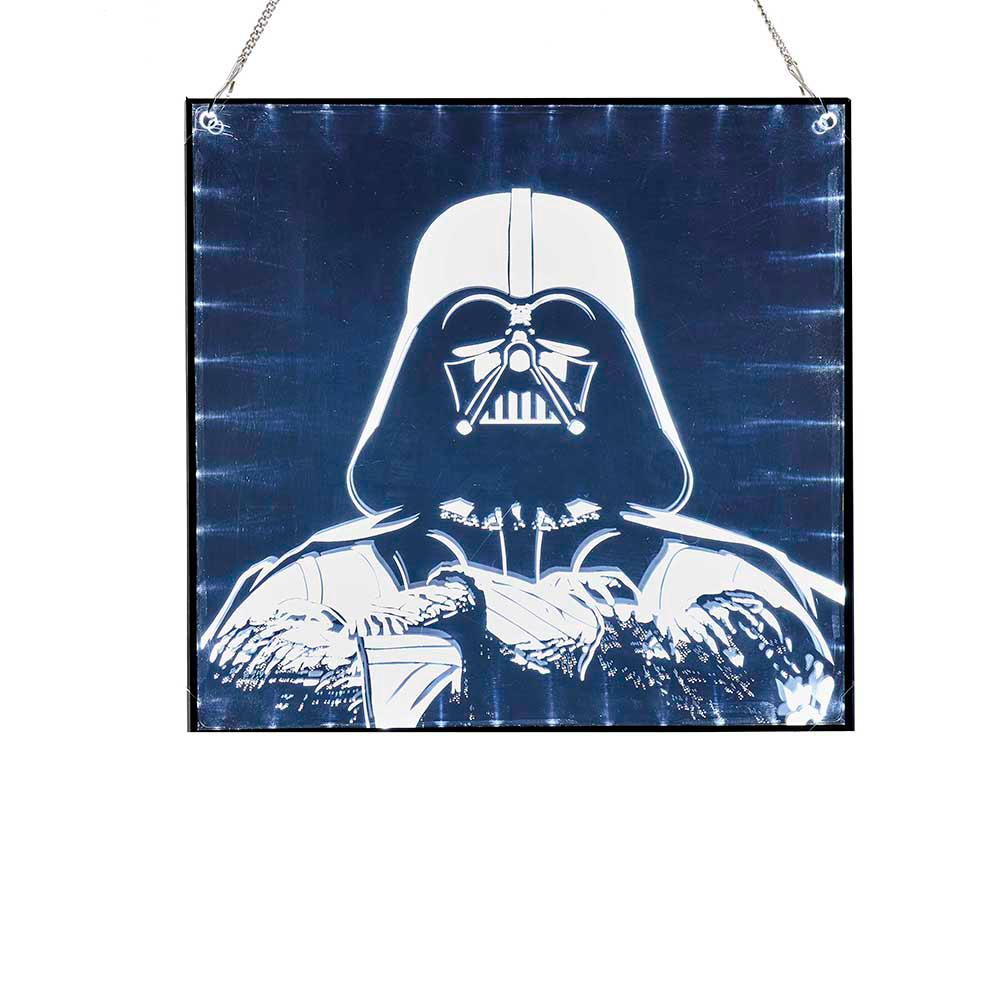 Star Wars Wall Decor Lights : Star Wars Kurt Adler 15 in. Darth Vader LED Light-Up Wall Decor-SW9180 - The Home Depot
